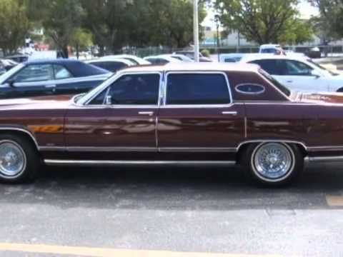 1978 lincoln continental town car sedan ft myers fl youtube. Black Bedroom Furniture Sets. Home Design Ideas