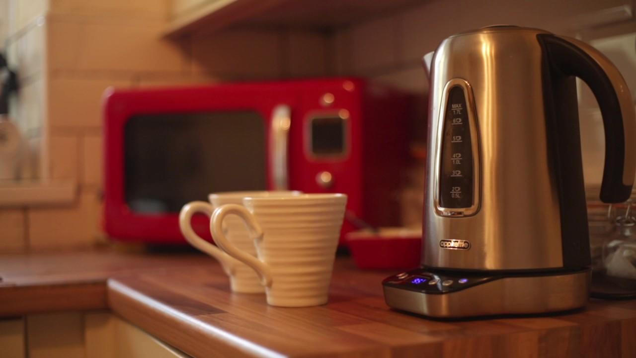 Appkettle Wifi Smart Internet App Enabled /& Voice Controlled KettleSilver ...