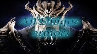 Skyrim:Dragonborn DLC- All Unique Armor