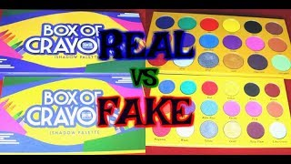 Real vs Fake: Box of Crayons