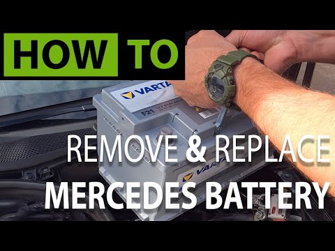 HOW TO Replace & Install Mercedes Car Battery + Reset Electrical Systems