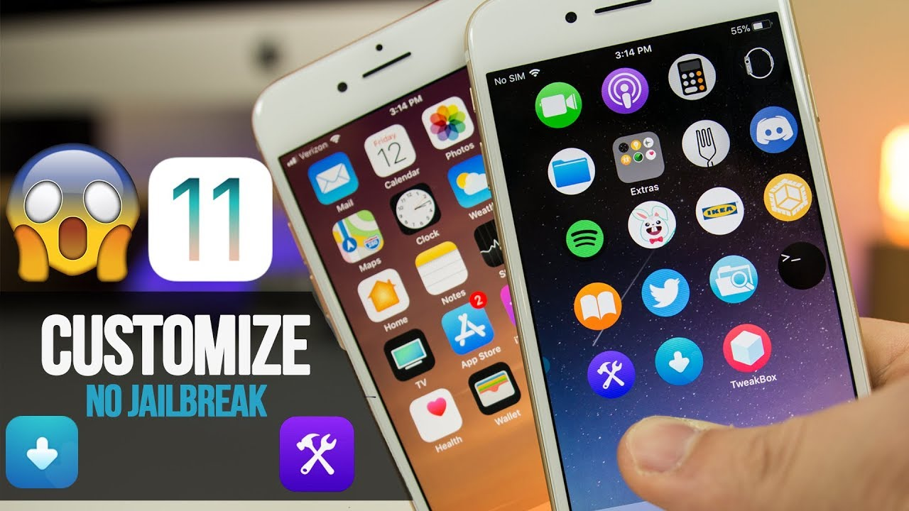 How to CUSTOMIZE Your iPhone, Stop Apps from Revoke, Change Icon Shape &  More! iOS 11 (No Jailbreak)