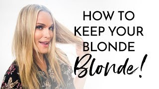 How I Keep My Blonde So Blonde! | Molly Sims 2018