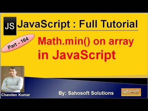 Math.min on array value in JavaScript | JavaScript Full Tutorial in Hindi thumbnail