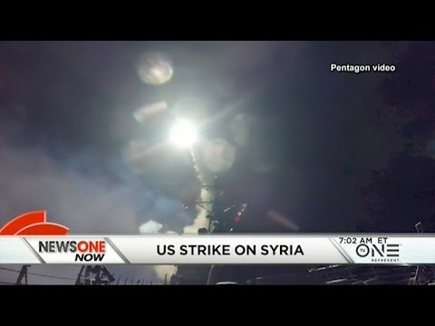 U.S. Launches A Missile Strike Against Syria In Response To Chemical Weapons Attack On Its Civilians