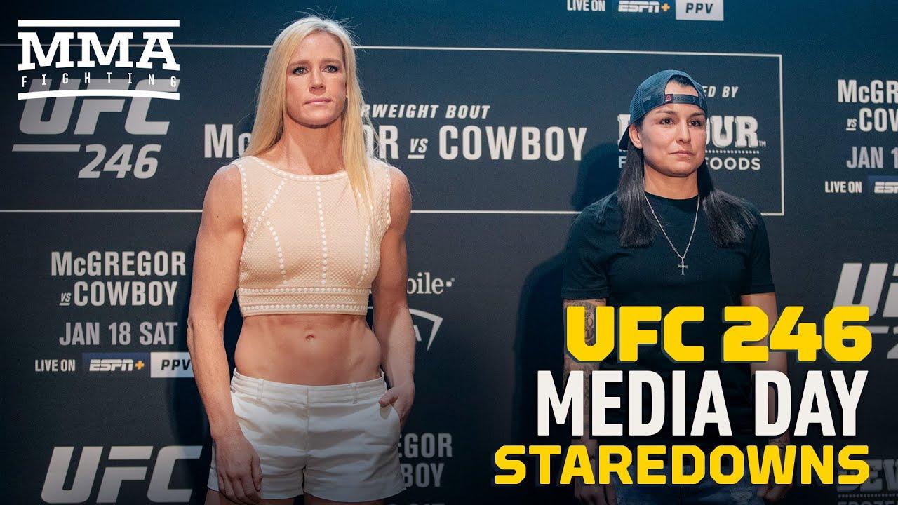 UFC 246 Media Day Staredowns - MMA Fighting