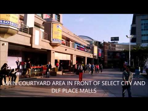 Saket Commercial District Center in South Delhi