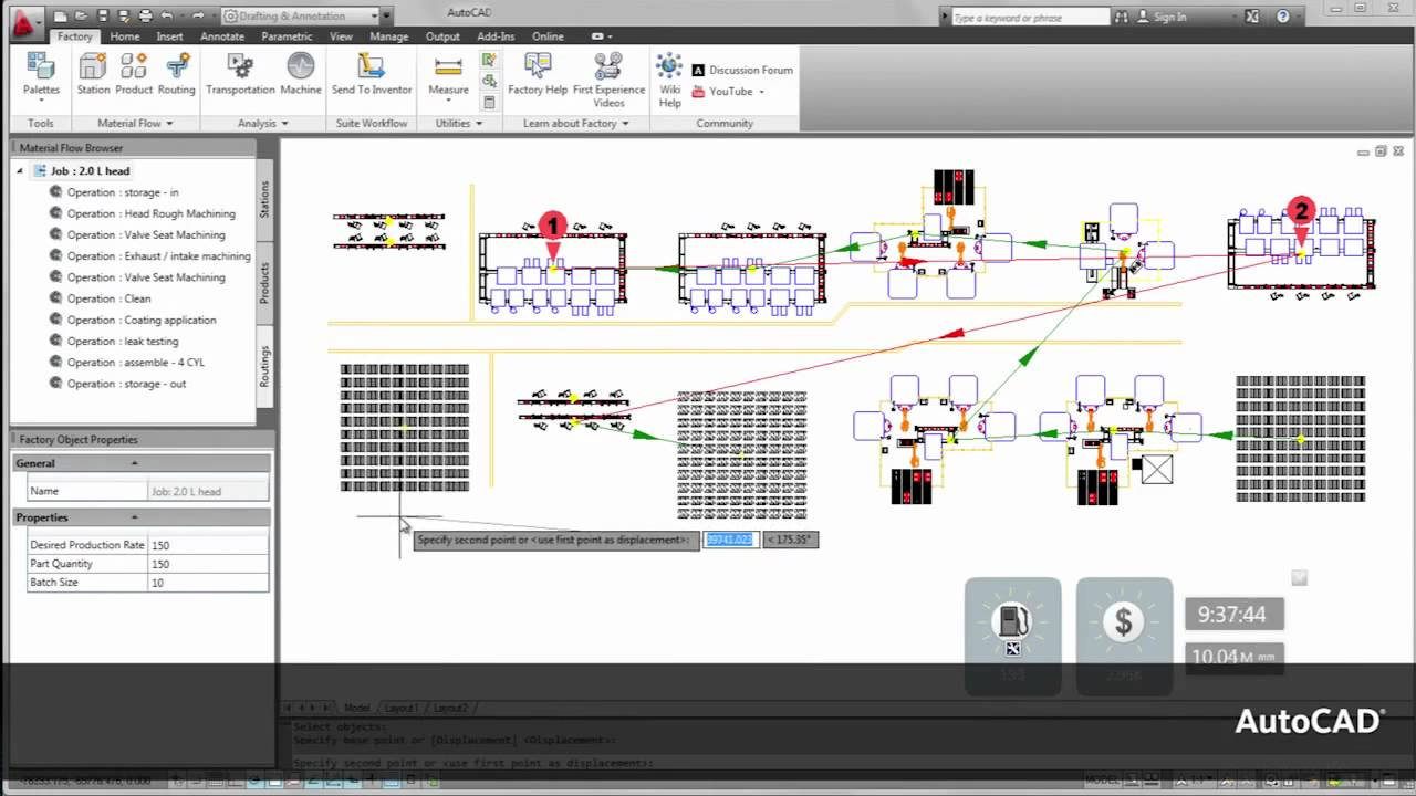 Factory Design Suite 2012 Workflow Chapter 1 Layout For Process Flow Diagram Using Autocad