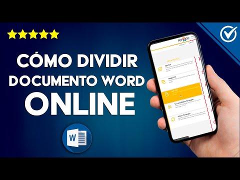 Cómo Dividir un Documento de Word Online en Varios Archivos o Documentos Separados