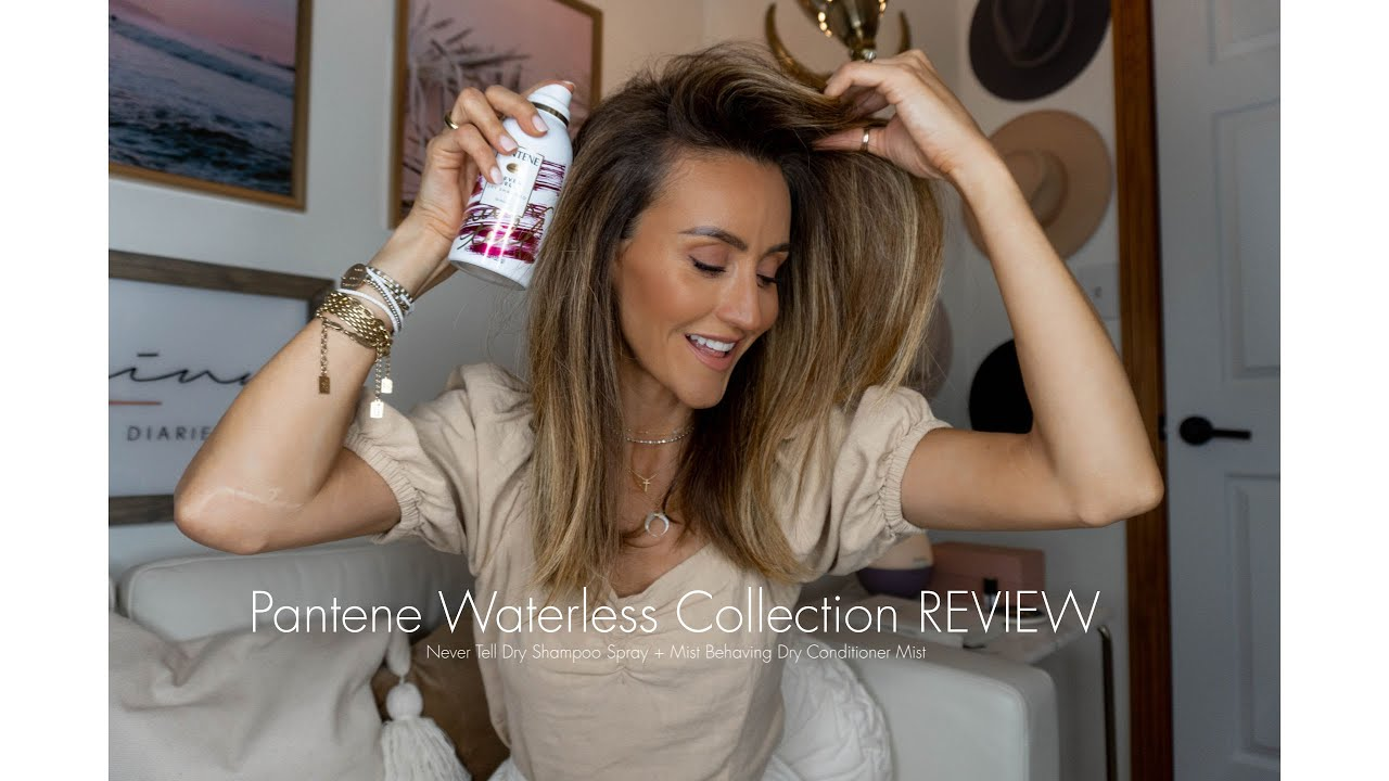 Pantene Waterless Collection Review Never Tell Dry Shampoo Mist Behaving Dry Conditioner Mist Youtube
