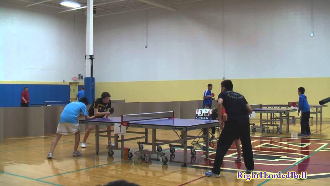 2013 Mn State Table Tennis Champs Open Doubles Final Tran M Qi W Vs Klaverkamp H Lee D