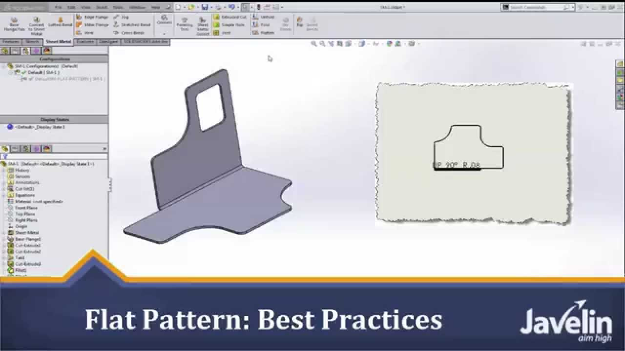 Solidworks Sheet Metal Tutorial Flat Pattern Best
