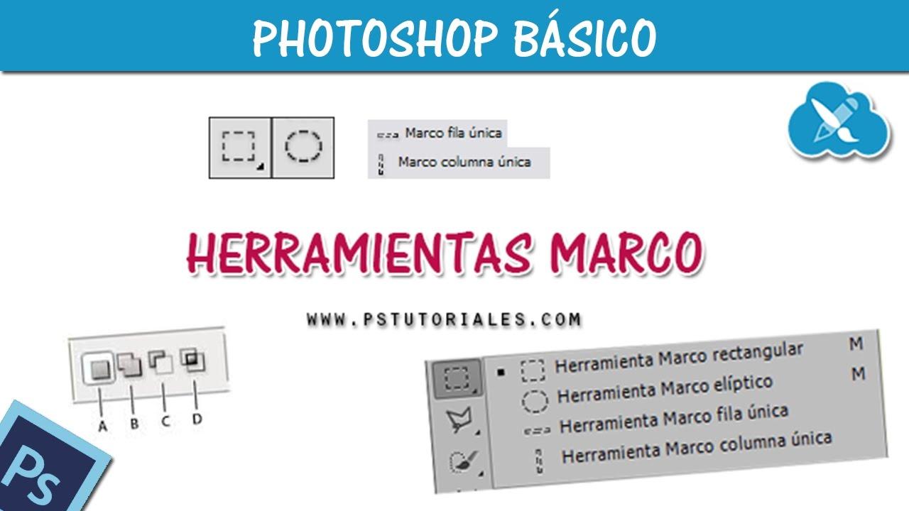 Herramientas marco + Máscaras de capa en Photoshop - YouTube