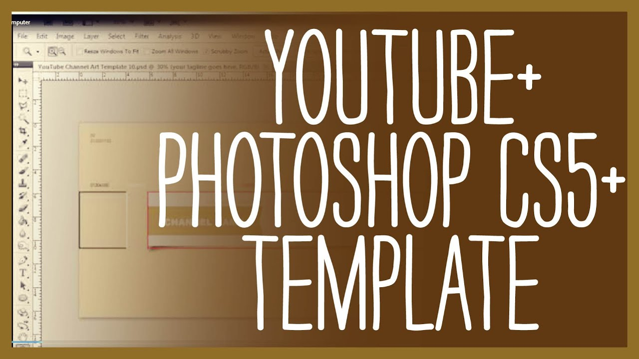 Photoshop cs5 how to make a professional youtube background.