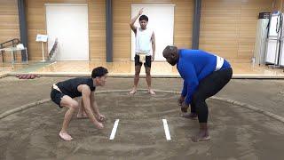 体重180kgの巨人と本気で相撲対決【朝倉海vsビッグジョー】