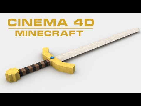 cinema 4d minecraft modeling sword free download youtube. Black Bedroom Furniture Sets. Home Design Ideas