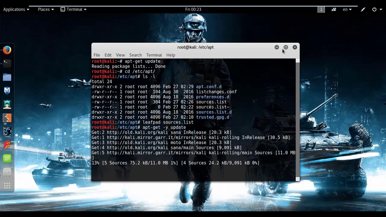 kali how to make ethernet work in workstation 12