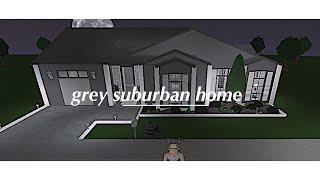 Roblox: Welcome to Bloxburg | Grey One - Story Family Suburban Home | 60k w/o bike |