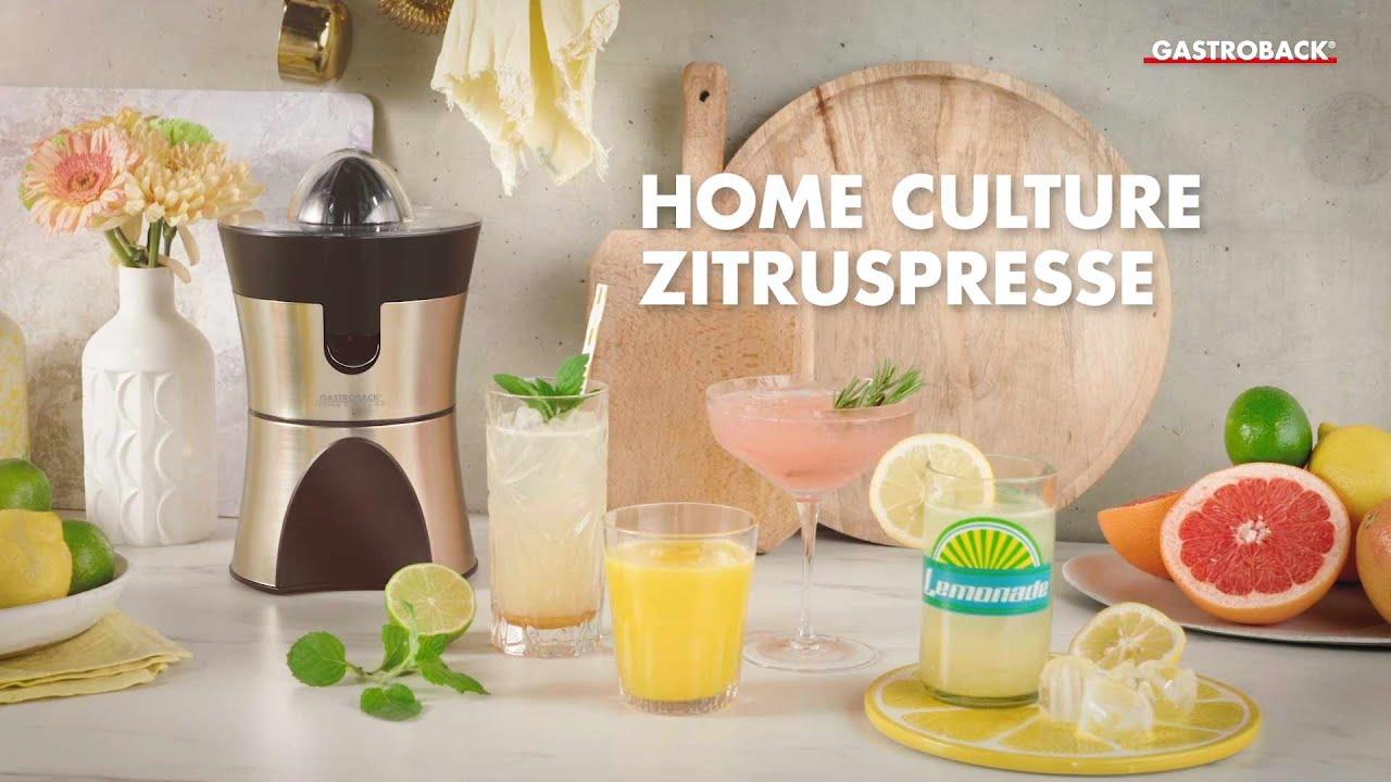 Zitruspresse Gastroback 41138 Home Culture Youtube