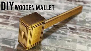 Making a wooden mallet / Wooden gavel / Wooden mallet diy