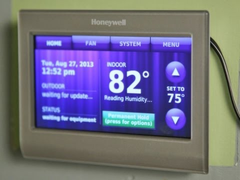 honeywell rth9580wf youtube vga wiring diagram first look wi fi smart thermostat