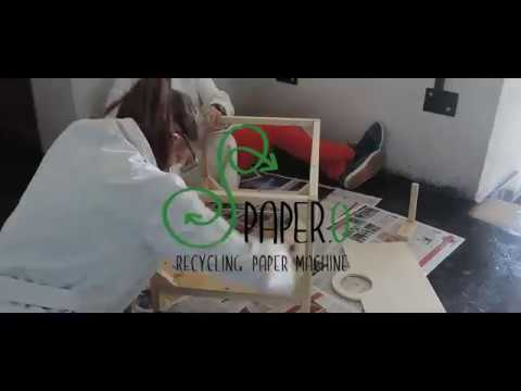 PAPER.O recycling paper machine - Prototype construction