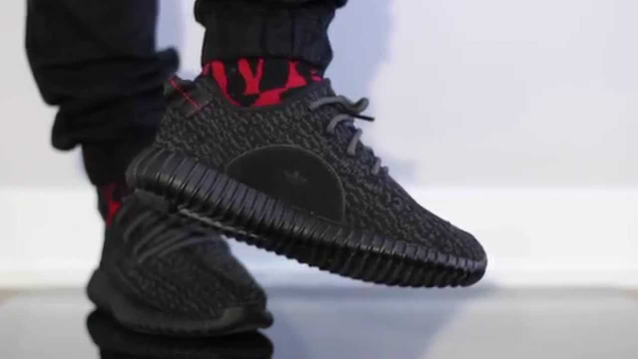 UA Yeezy 350 Boost V2 Bred SPLY 350 Black/Red