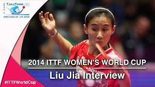 2014 ITTF Women's World Cup - Interview with Liu Jia