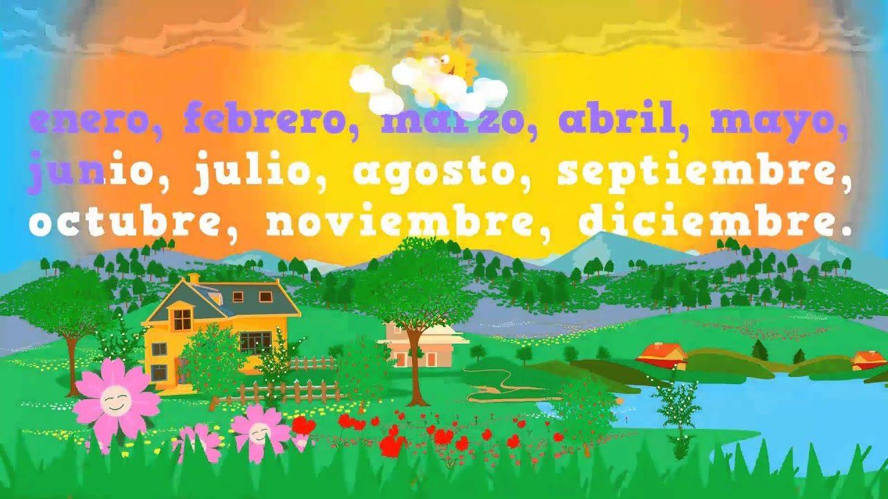 Los meses del año en español. Song to learn the Months of the Year ...