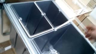 Мебельная фурнитура. Выдвижное мусорное ведро в кухонной мебели(Выдвижное мусорное ведро, внутри кухонной мебели, очень удобно в использовании. А также такое ведро можно..., 2015-02-01T10:20:35.000Z)