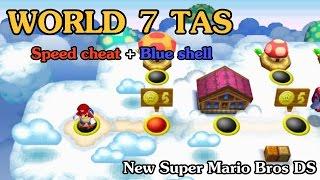 [TAS] World 7 - New Super Mario Bros DS (Speed Cheat + Blue Shell)