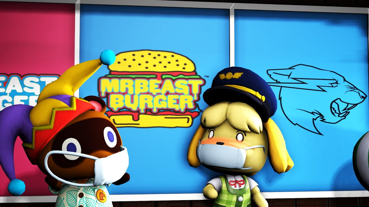 Tom Nook Goes To Mr Beast Burger Animation @MrBeast