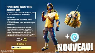 NOUVEAU STARTER PACK ASSAILLANT ALPIN + 600 V-Bucks (SUMMIT STRIKER) ! Fortnite Battle Royale