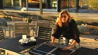Dura Wood Resin Composite Black Extension Patio Dining Set - Product Review Video