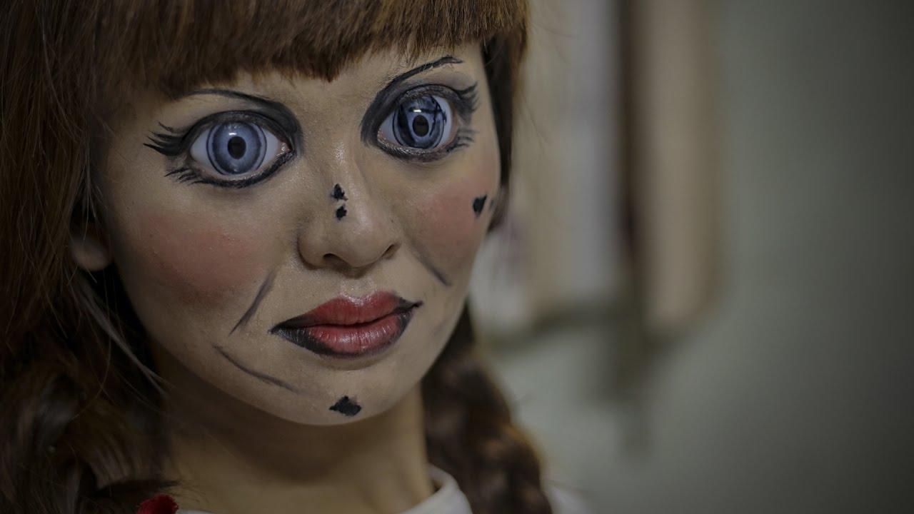 Trucco Annabelle Halloween.Annabelle Makeup 2 Annabelle Creation