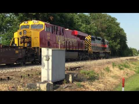 Chasing the Iowa Interstate CBBI from Atkinson to Bureau, IL w/ IAIS 152 and 516 06/09/17