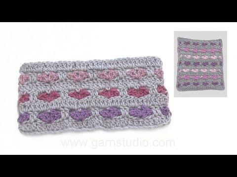 How to crochet many hearts.