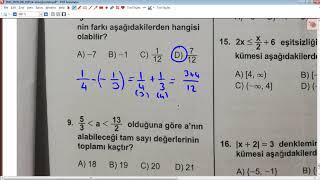 AÖL Aralık 2019 Matematik 1 Soruları Ve Açıklamalı Çözümleri