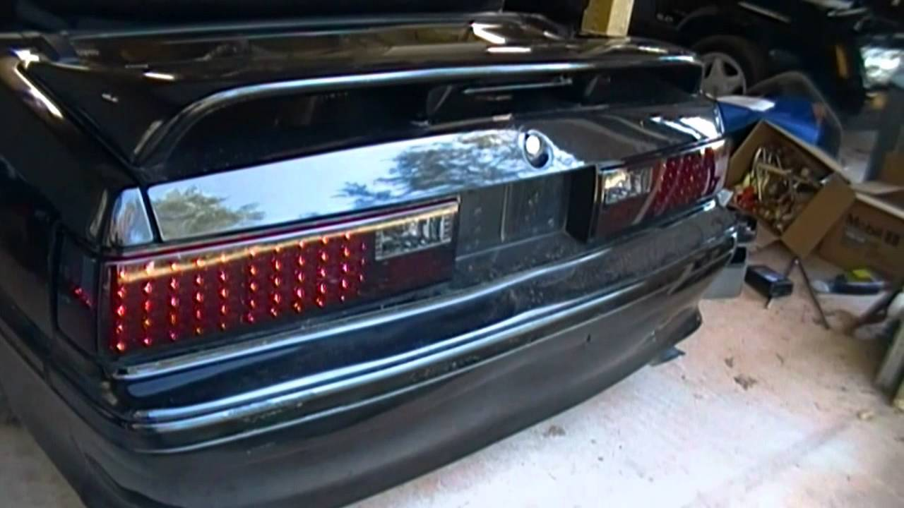 led tail light install in a ford foxbody mustang [ 1280 x 720 Pixel ]
