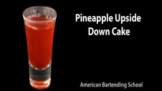 Pineapple Upside Down Cake Cocktail Shot Drink Recipe