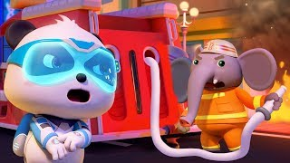 Fire Rescue with Fireman | Firefighter Song | Nursery Rhymes | Kids Songs | Baby Cartoon | BabyBus