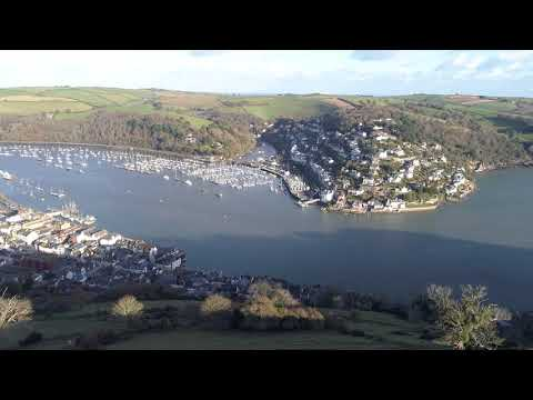 Drone over Dartmouth, Kingswear & River Dart 9th December 2017 - Aerial view