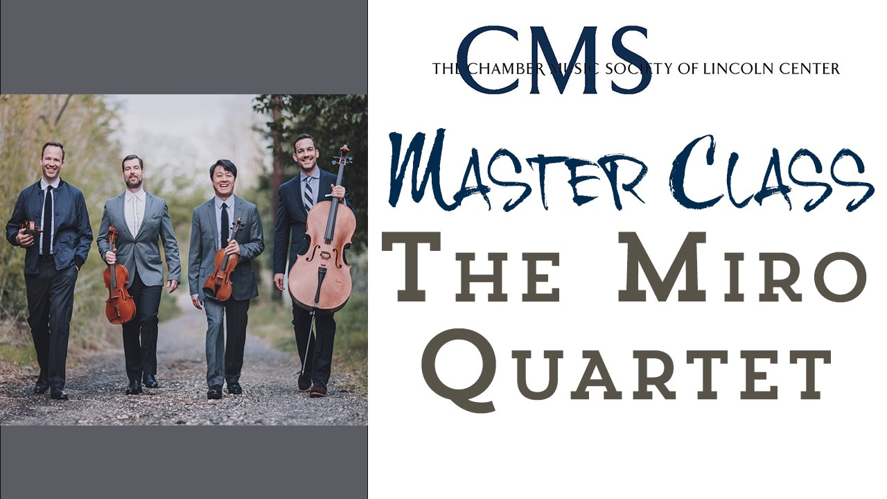 Master Class with the Miró Quartet