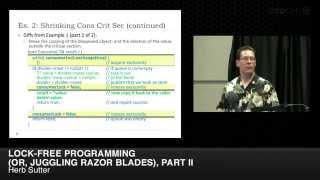 "CppCon 2014: Herb Sutter ""Lock-Free Programming (or, Juggling Razor Blades), Part II"""