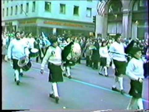 Mike Flannery leads the 1983 St Patrick's Day Parade in NYC