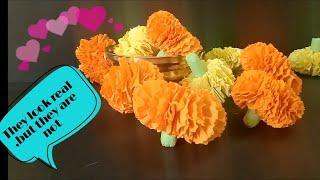 Marigold Paper Flowers