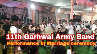 Garhwal Rifles Band Performance in marriage Ceremony