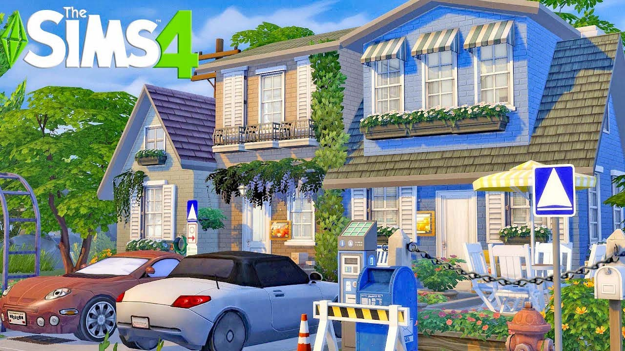 I built a Sims 4 🏠 Base Game Townhouse 🏠 Speed Build