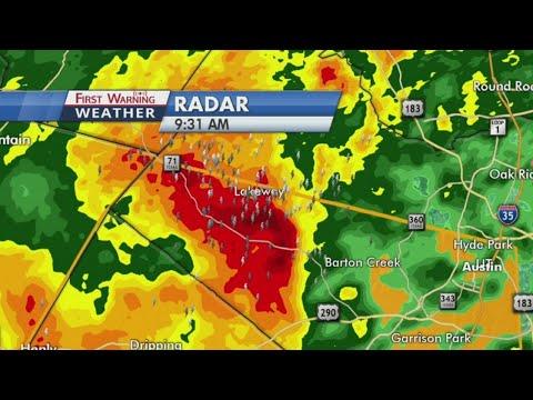Severe storms move into Austin area
