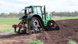 Soucy STech 616 tracks, fitted to a JD 6105M in Gatton